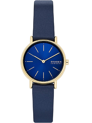 SKW2867I Skagen Analog Blue Dial Women's Watch Signatur Two-Hand Blue Leather Watch-SKW2867I