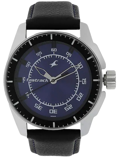 fastrack black magic analog blue dial men's watch-NM3089SL01