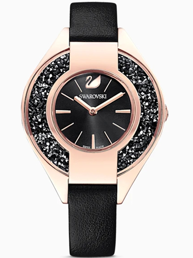 Swarovski Crystalline Black, Rose-gold tone PVD-5547632