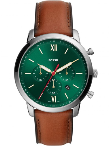 fossil neutra chronograph luggage leather watch-FS5735