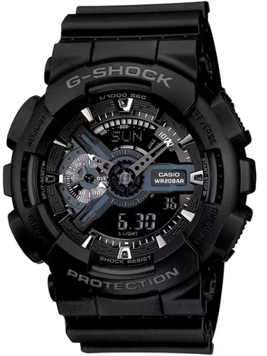 Casio G-Shock Analog-Digital Black Dial Men's Watch (G317)-G317