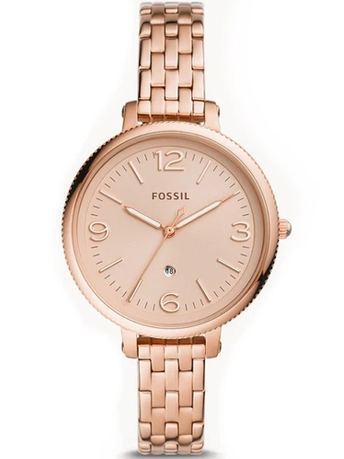 fossil monroe three-hand date rose gold-tone stainless steel womens watch es4946i-ES4946I