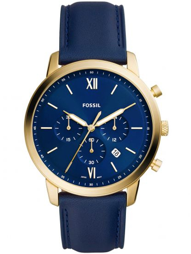 fossil neutra chronograph navy mens leather watch fs5790i-FS5790I