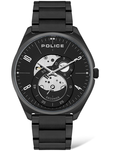 POLICE Mens SMART Black Dial Metallic Analogue Watch-PL16022JSBU02MW