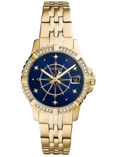 fb-01 three-hand date gold-tone stainless steel watch-ES5059I