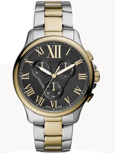 fossil monty chronograph two-tone stainless steel watch-FS5636I