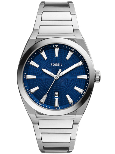 fossil everett three-hand date stainless steel watch-FS5822I