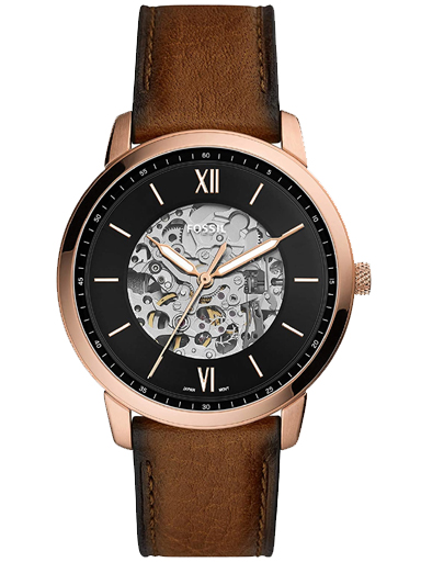 fossil neutra automatic brown leather watch-ME3195I