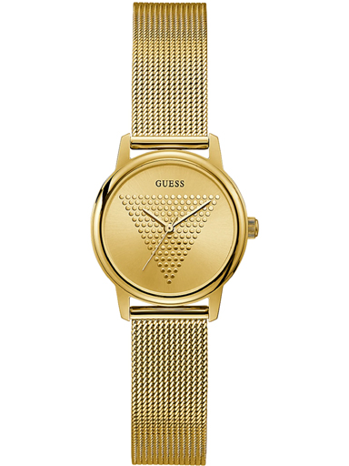 womens micro imprint champagne dial stainless steel & mesh analogue watch-GGW0106L2