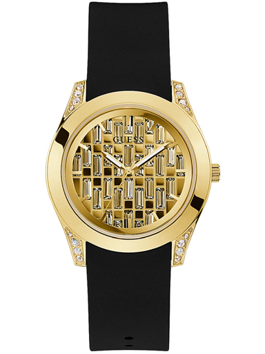 womens clarity champagne dial silicone analogue watch-GW0109L1
