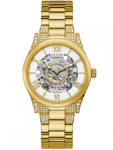 Womens ARIES White Dial Stainless Steel Analogue Watch-GW0115L2