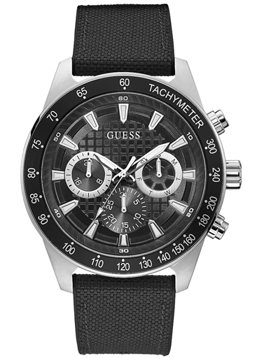 silver-tone and black multifunction watch-GW0206G1