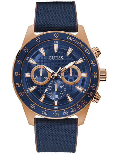 rose-gold tone and blue multifunction watch-GW0206G2