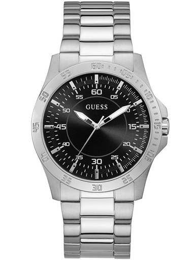 guess golby mens watch, stainless steel case, stainless steel strap, silver-GW0207G1