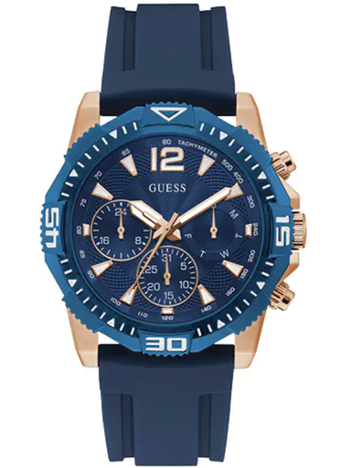 mens commander blue dial silicone analogue watch-GW0211G4