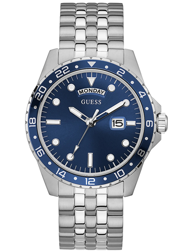 mens comet blue dial stainless steel analogue watch-GW0220G1