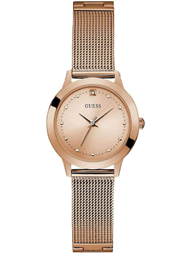 womens chelsea rose gold dial analogue watch-W1197L6