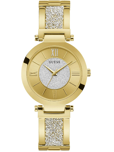 womens two tone dial stainless steel analogue watch-W1288L2
