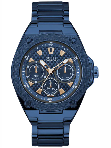 mens blue dial stainless steel multi-function watch-W1305G4