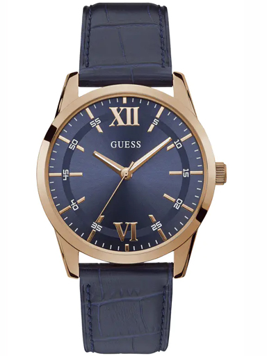 mens blue dial analogue watch-W1307G2
