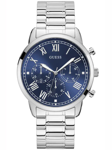 Mens Blue Dial Stainless Steel Multi-Function Watch-W1309G1
