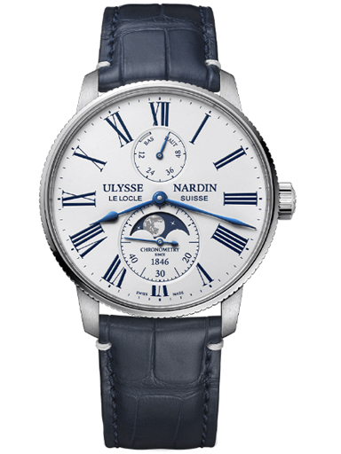 Ulysse Nardin Torpilleur Moonphase White Watch-1193-310LE-0A-175/1A
