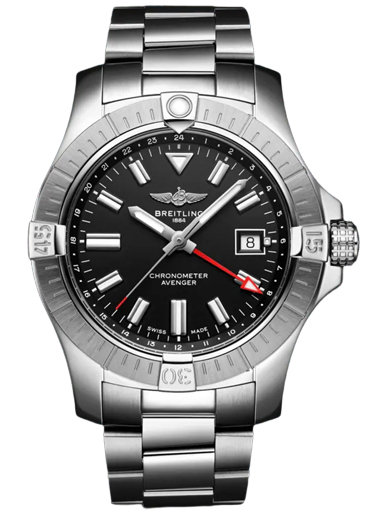 Breitling Avenger Automatic GMT 43 Stainless Steel Black Watch-A32397101B1A1