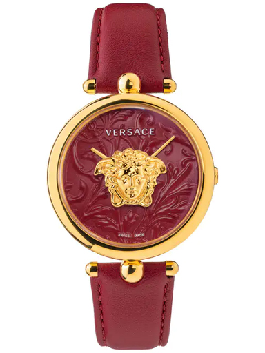 VERSACE Womens Red Dial Palazzo Empire - 39mm Stainless Steel Analogue Watch-VECO01520