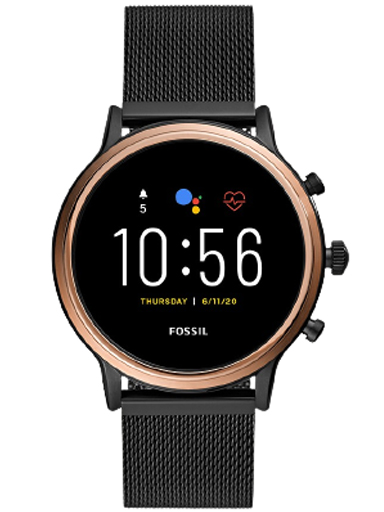 Fossil Q Gen 5 Round Multi Colored Dial Unisex Smartwatch-FTW6036I