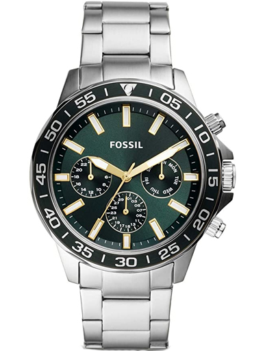 fossil bannon multifunction stainless steel watch-BQ2492I