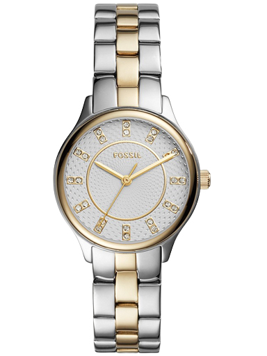 fossil modern sophisticate three-hand two-tone stainless steel watch-BQ1574I