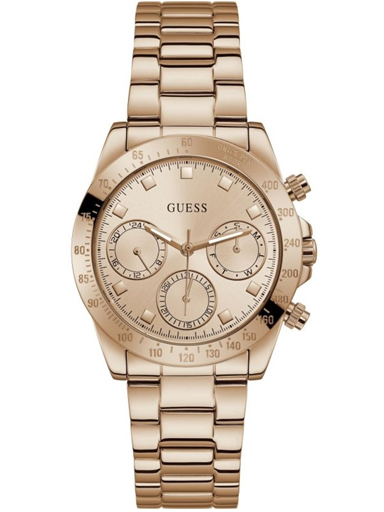guess rose gold tone case rose gold tone stainless steel watch-GW0314L3