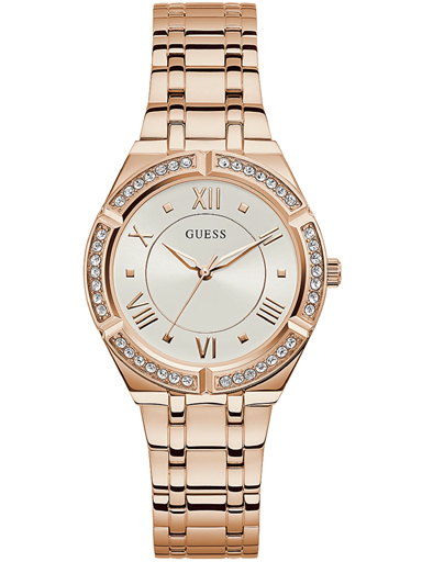 guess rose gold tone case rose gold tone stainless steel watch-GW0033L3