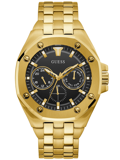 guess gold tone case gold tone stainless steel watch-GW0278G2