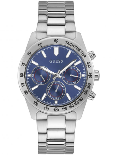 guess stainless steel blue dial watch-GW0329G1