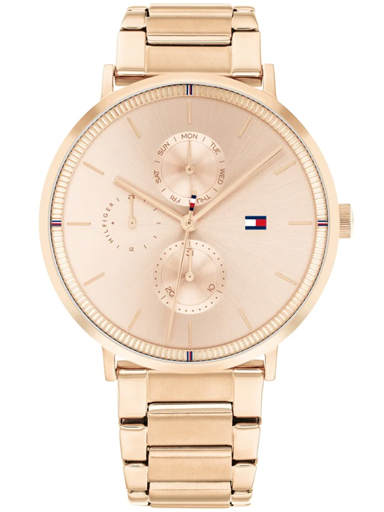 tommy hilfiger carnation gold dial multifunction watch-TH1782296W
