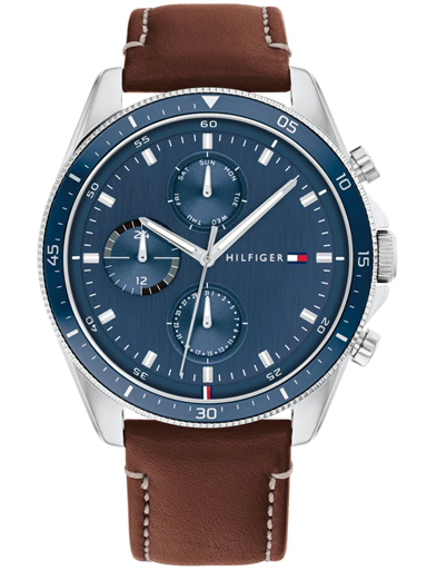 tommy hilfiger blue dial multifunction watch-TH1791837W