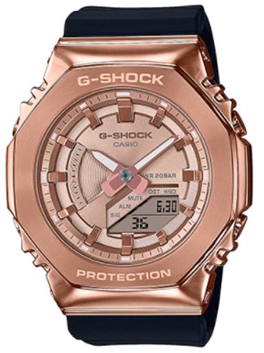 casio gm-s2100pg-1a4dr(g1165) metal covered women's watch-G1165