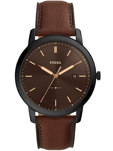 Fossil The Minimalist Solar-Powered Brown Leather Watch-FS5841I