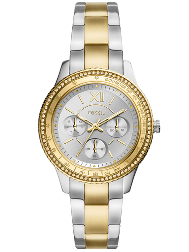 fossil stella sport multifunction two-tone stainless steel watch-ES5107I