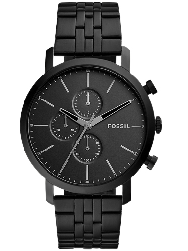 fossil luther chronograph black stainless steel watch-BQ2330IE