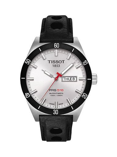 Tissot Watch PRS 516 Mens - White Dial Stainless Steel Case Automatic Movement-T0444302603100