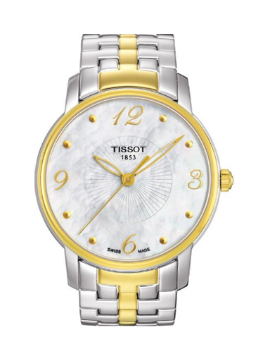 Tissot Women's Mother of Pearl Dial Two Tone-T0522102211700