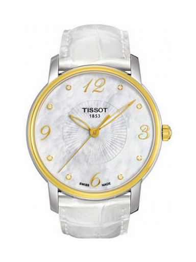 Tissot Lady Round Trend White Mother of Pearl Women's Watch-T0522102611600