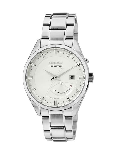 Seiko Kinetic White Dial SRN043P1 Men's Watch-SRN043P1