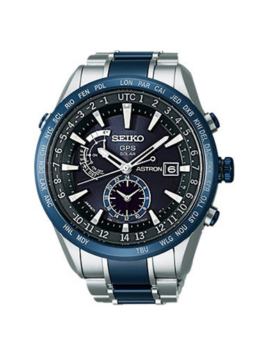 Seiko Astron GPS Solar Black Dial  SAST019G Men's Watch-SAST019G