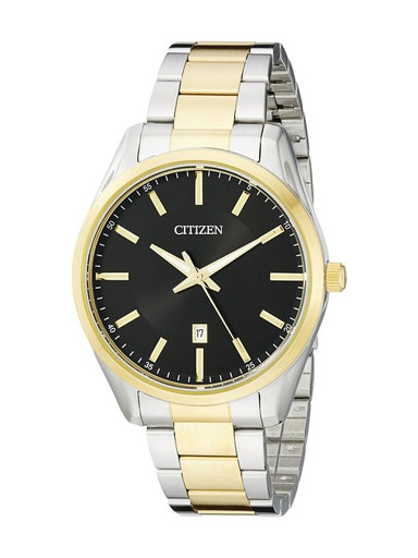 Citizen Dress Quartz Black Dial BI1034-52E Men's Watch-BI1034-52E