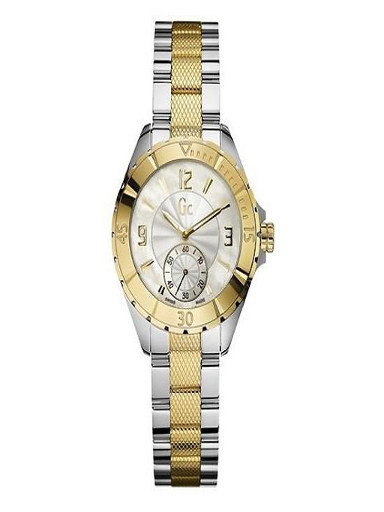 Gc Analog Mother of Pearl Dial Women's Watch-A70002L1