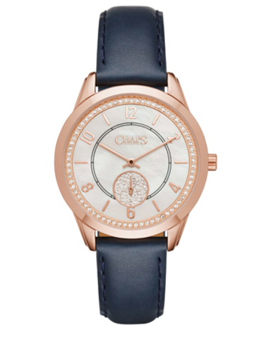 CHAPS Kasia Rose Gold Tone Leather Watch-CHP1011