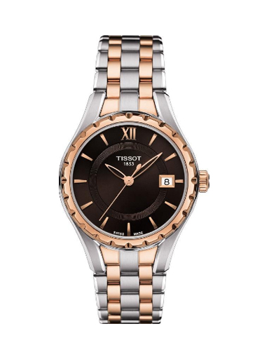 Tissot Brown Dial Two-tone Ladies Watch T0722102229800-T0722102229800